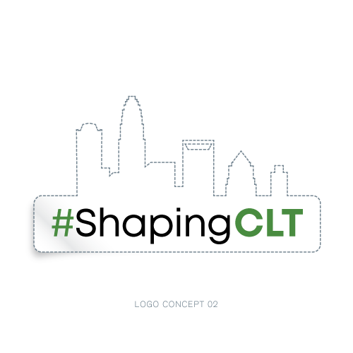 Levine Museum of the New South, #ShapingCLT Logo, Elwoodesign, Elwood Design, Tony Elwood, Logo Design