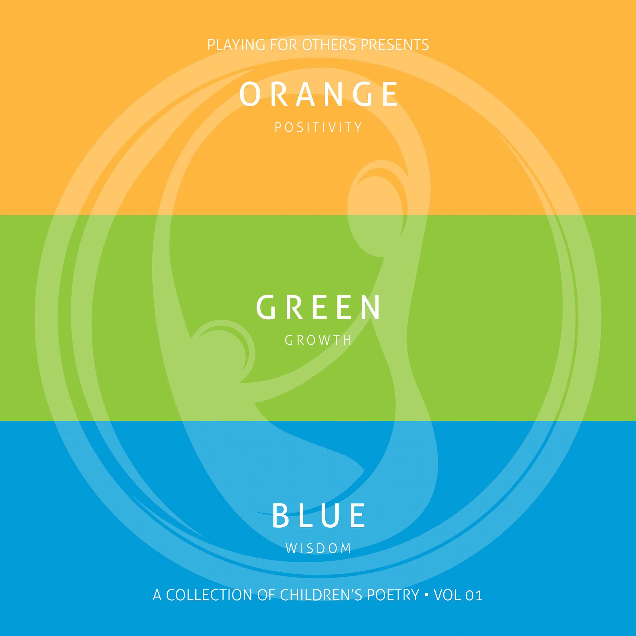 Playing for Other, Orange Green Blue, Book cover design