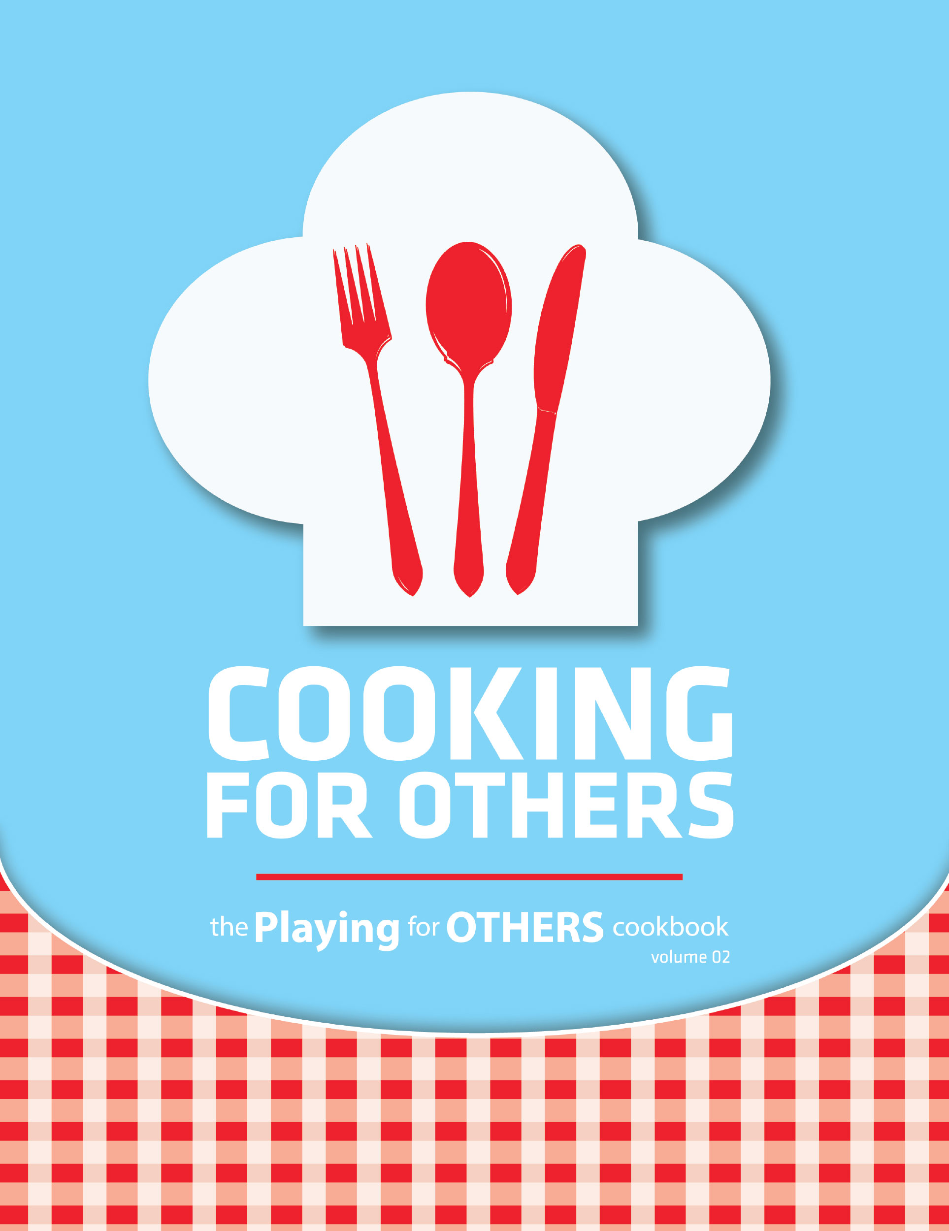 Playing for Other, Cooking for Other, Cook book design, Book cover design